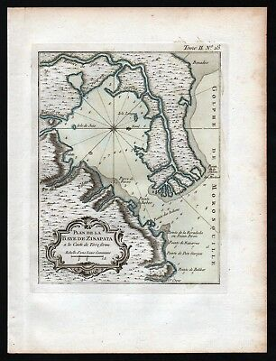 1764 - Cispata Bay San Antero Cordoba Colombia Bellin handcolored antique map