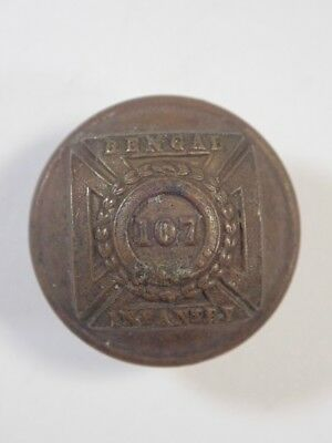 107th (Bengal Infantry) Foot original Officers Victorian Button.
