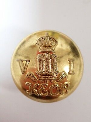 India: 6th KEOC original Officers Large Button.