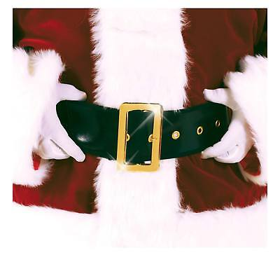 Men's Santa Claus Christmas Pirate Deluxe Costume BELT and Buckle Black Gold