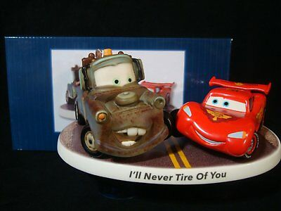 Precious Moments-Disney Cars-Lightning McQueen And Mater-I'll Never Tire Of You