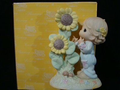 Precious Moments-Girl/Sunflower-Open Your Eyes To All His Blessings