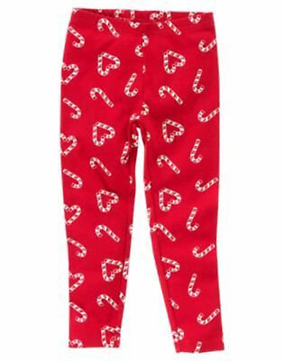 Gymboree Candy Cane Girl Leggings NWT 3 4 Retail Store Christmas, Holiday