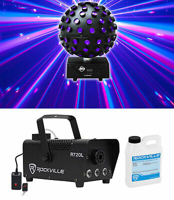 American DJ ADJ Starburst LED Sphere Shooting Beam Lighting Effect+Fog Machine