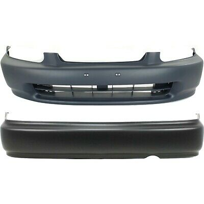 Front & Rear Bumper Cover Set For 1996-1998 Honda Civic Coupe/Sedan Primed 2-Pcs