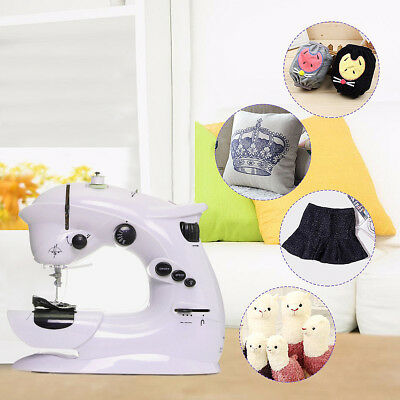 Portable Household Electric Overlock Desktop Sewing Machine Foot Pedal LED Light