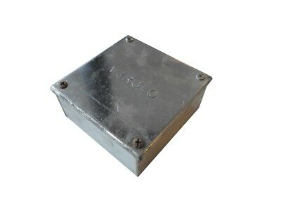 "NEW Galvanised Adaptable Steel Box Electrical Enclosure 4"" x4"" x2"" 100x100x50mm"