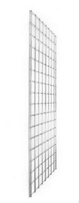 Gridwall 8Ft Chrome Panel   Retail Display Shop Fittings X 2