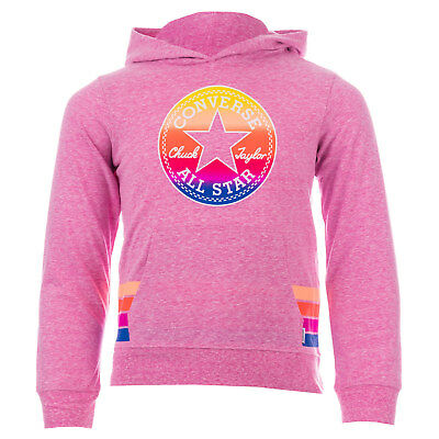 Infant Girls Converse Sunset Hoody Pink- Pouch Pocket To Front- Ribbed Cuffs And