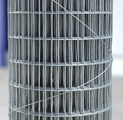 """19ga Cage & Aviary Galvanised Wire Fence Welded Mesh 1/2"""" x 1"""" 0.9 x 6m Roll"""