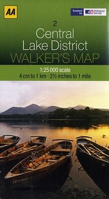 Walkers Map Central Lake District (Map), AA Publishing, 9780749573133