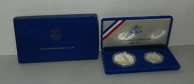 1886-1986 United States Liberty Coins Silver and Half Dollar MIB