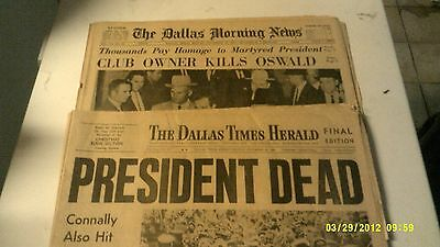 Two Original Dallas Times Herald Kennedy/Oswald Papers