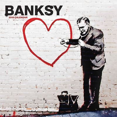 Banksy 2018 Square Wall Calendar by Red Star