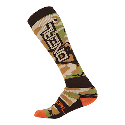Oneal Pro MX Sock WOODS CAMO  grün Mountainbike MX Downhill Strümpfe