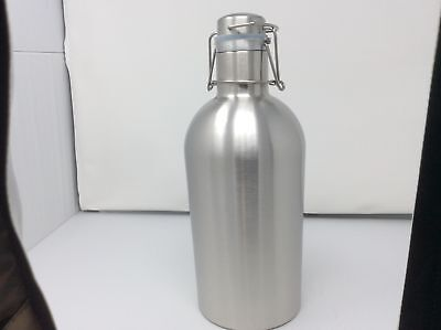 (Closeout) Beer Growler 2 L, 67 OZ, Double Wall Stainless Steel w/ Swing-Top