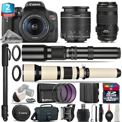 Canon EOS Rebel T6i + 18-55mm IS STM + 70-300mm IS USM + 500-1300mm - 32GB Kit