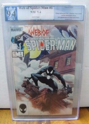 Web of Spider-Man #1 9.4 PGX Graded not CGC 1st Appearance Vulturions