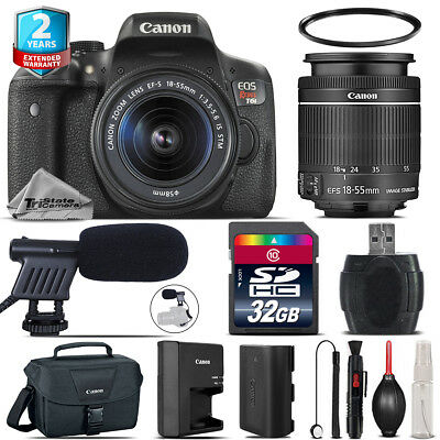 Canon EOS Rebel T6i + 18-55mm IS STM + Shoutgun Mic + UV + Case - 32GB Kit