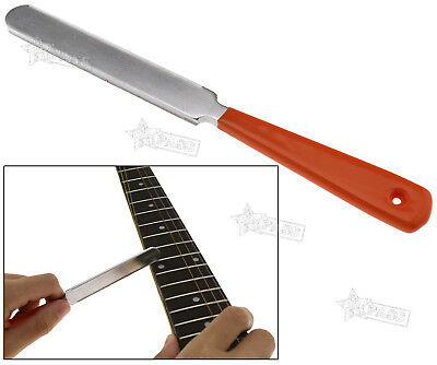 182mm Guitar Fret Crowning Luthier File Stainless Durable Dual Cutting Edge Tool