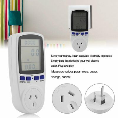 Power Meter Energy Monitor Plug-in Home Electricity KWH Watt Volt Amps Socket KT
