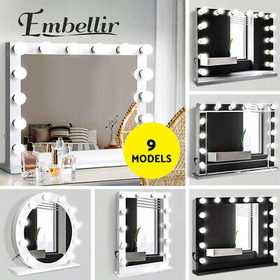 Hollywood Makeup Mirror LED Light Blubs Lighted Vanity Beauty Christmas Gift