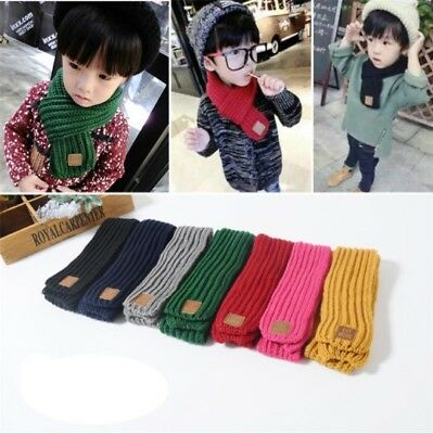 New Boy Girl Baby Winter Warm Color Scarf Knitting Wool Children Neck Warmer