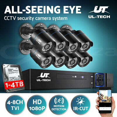 CCTV Security Camera 1080P HDMI 4CH 8CH DVR Video Home Outdoor IP System 1TB