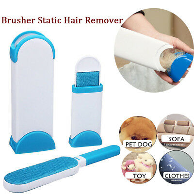 NEW Self Cleaning Base Tornado Fur Wizard lint Pet Hair Remover Brush Reusable S