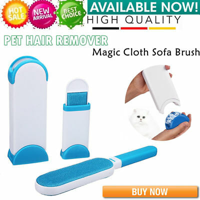 Hurricane Fur Wizard Pet Hair Lint Remover Magic Cloth Fabric Brush Travel Size