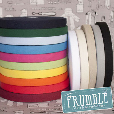 20mm Cotton Twill Herringbone 50m Bulk Roll - Bunting Tape Herringbone Tote Bag