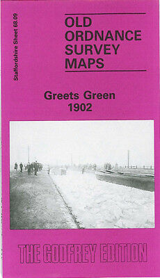 Old Ordnance Survey Map Greets Green 1902 Tividale Dudley Port Station New Town