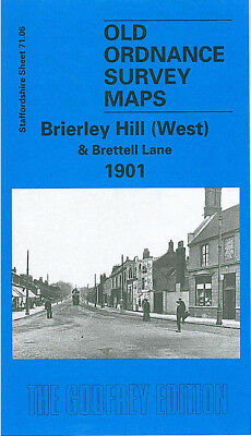 Old Ordnance Survey Map Brierley Hill West Brettell Lane 1901 Audnam Silver End
