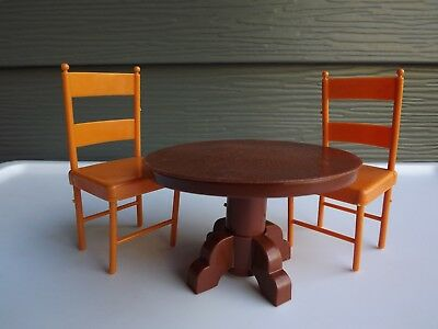 1973 Vintage Mattel Sunshine Family Doll Dollhouse Furniture Table and Chairs