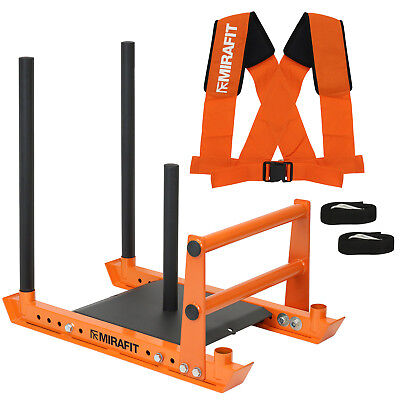 Mirafit M3 Weight Sled & Harness Push/Pull/Drag Strongman PT Bootcamp Training