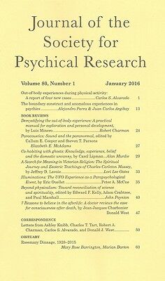 Journal Society Psychical Research. Vol. 80, no. 1, January 2016.