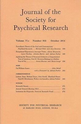 Journal Society for Psychical Research. Vol. 77, No. 4. October 2013