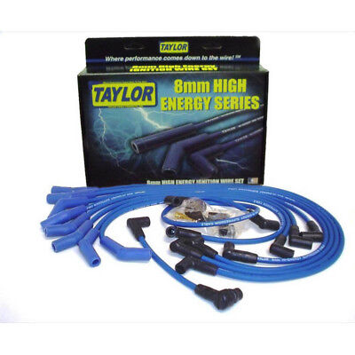 Taylor Spark Plug Wire Set 64658; High Energy 8.0mm Blue for Ford 302/351W SBF