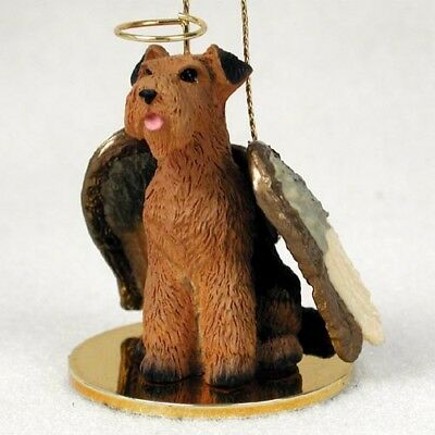 Airedale Terrier Dog ANGEL Tiny One Ornament Figurine Statue