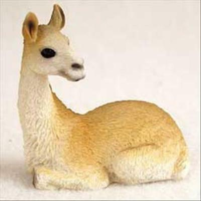 Llama Animal Tiny One Miniature Small Hand Painted Figurine