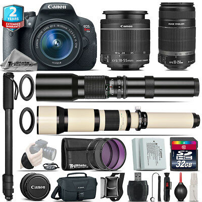 Canon EOS Rebel T5i + 18-55mm IS STM + 55-250mm IS + 500-1300mm - 32GB Kit