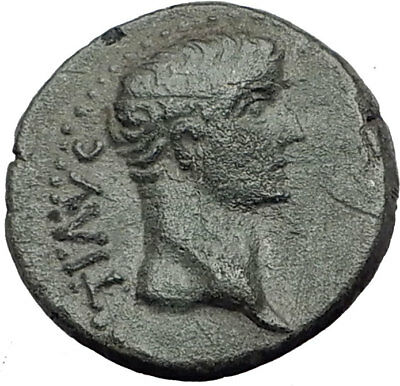 TIBERIUS 14AD Colonists Founding PARIUM with OXEN Ancient Roman Coin i64798