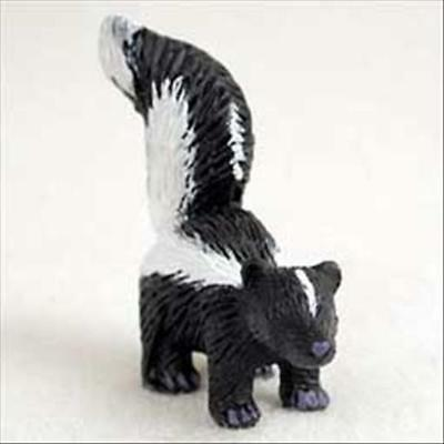 Skunk Animal Tiny One Miniature Small Hand Painted Figurine