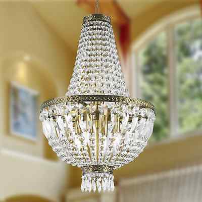 Metro Candelabra 6-light Antique Bronze Finish and Clear Crystal Basket Mini