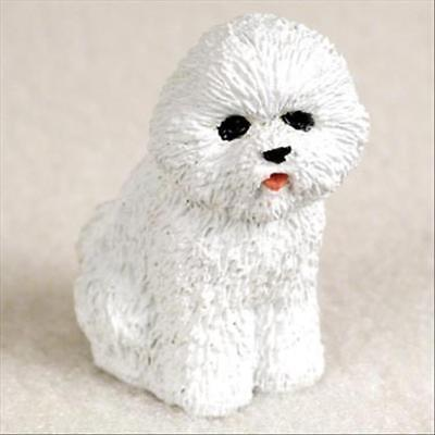 Bichon Frise Dog Tiny One Miniature Small Hand Painted Figurine