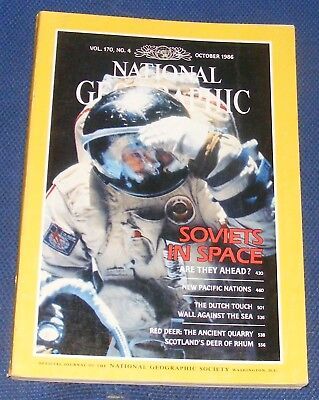 National Geographic Magazine October 1986 - Soviets In Space/new Pacific/barrier