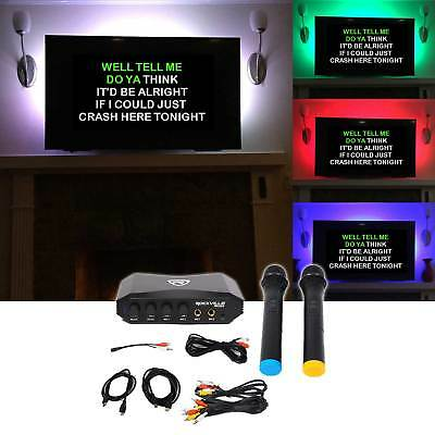 Rockville RKI50 Karaoke Microphone System 4 ipad/iphone/Android/Laptop/TV+LED's