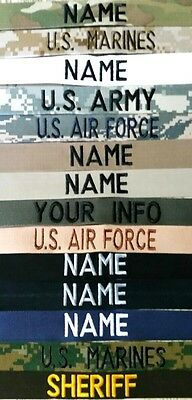 Easy Order Name Tapes-Military-Law Enforcement With Hook Fastener