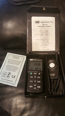 Used TES Electrical Electronic Corp 1339 Light Meter Pro. w/Carrying Case