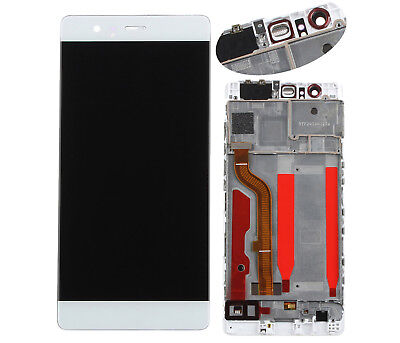 For Huawei P9 Standard EVA-L09 White LCD Display Touch Screen Assembly +Frame